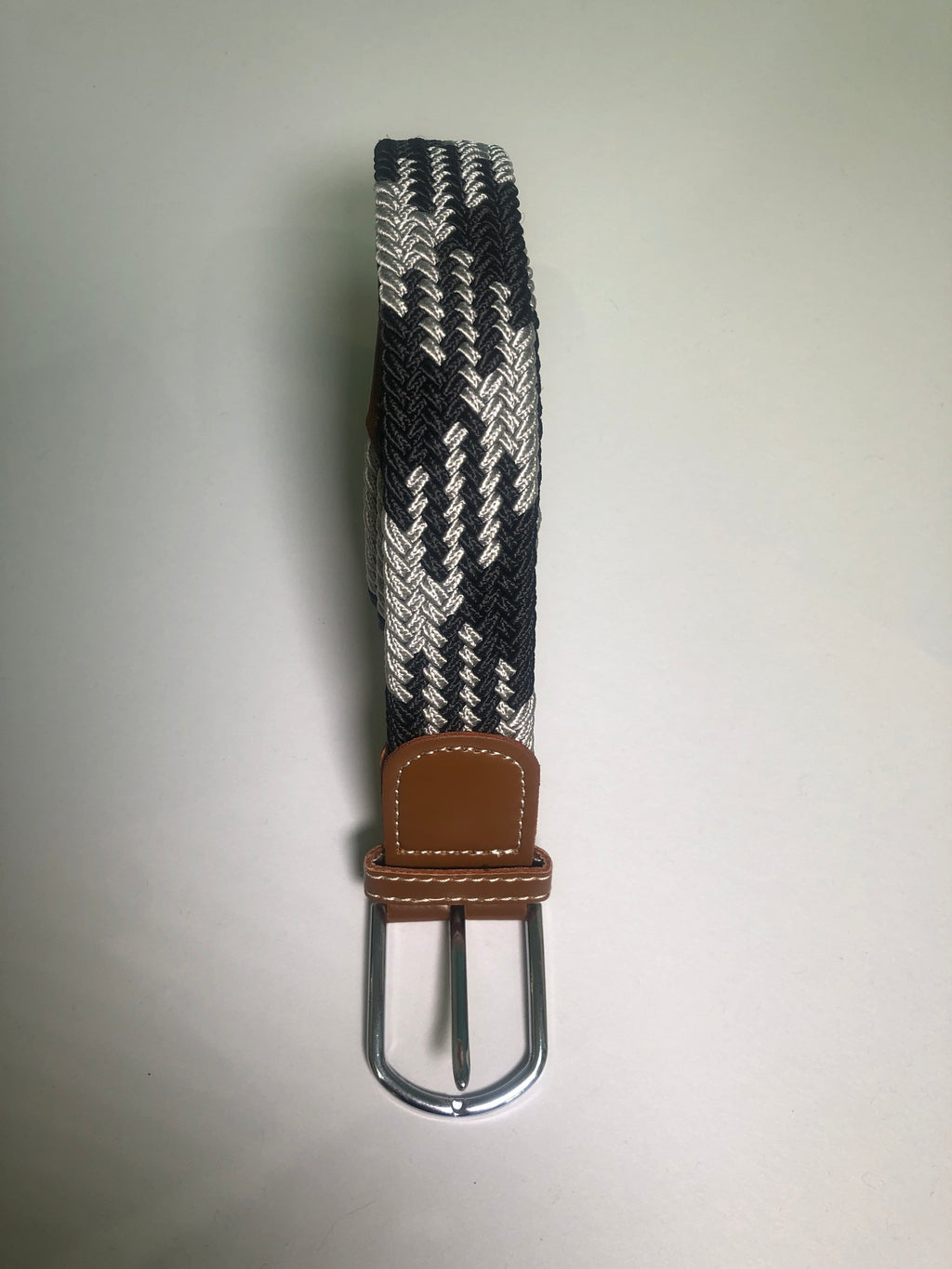 Woven Belt - Grey & Black