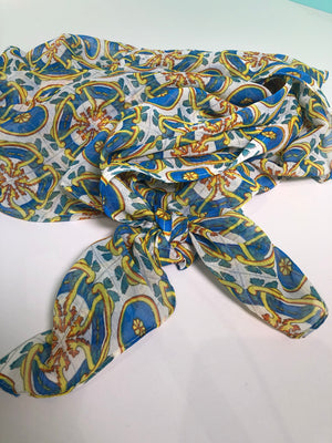 China Blue & Yellow Sarong