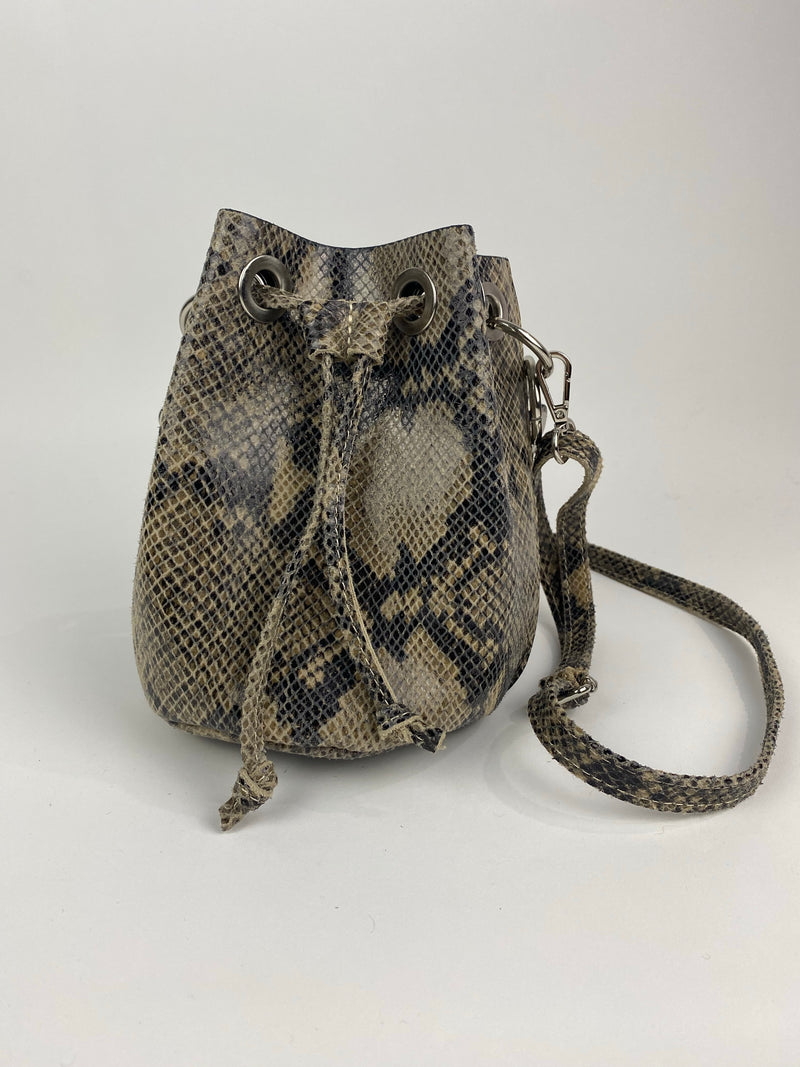 Greige Small Bucket Bag