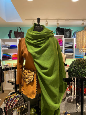Cashmere Blanket Wrap |  Fern Green