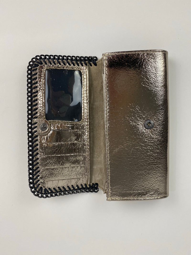 Metallic Leather Wallet