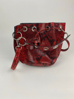 Red Small Bucket Bag