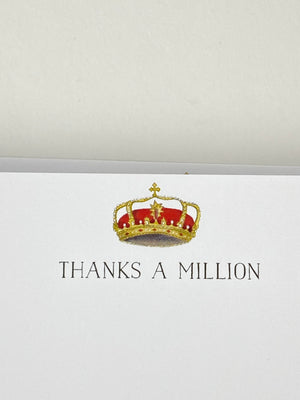 Thank You Cards - Thanks a Million | Crown