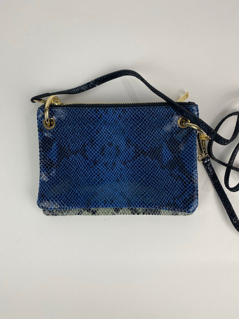 Deep Blue and Black Crossbody Handbag