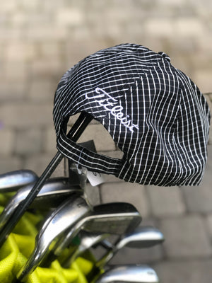 Golf Cap | Black Grid