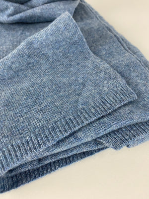 30/70 Cashmere Scarf | Jeans Blue