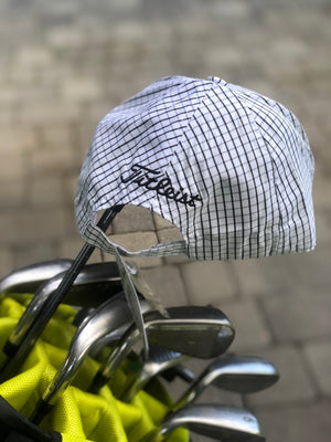Golf Cap | White Grid