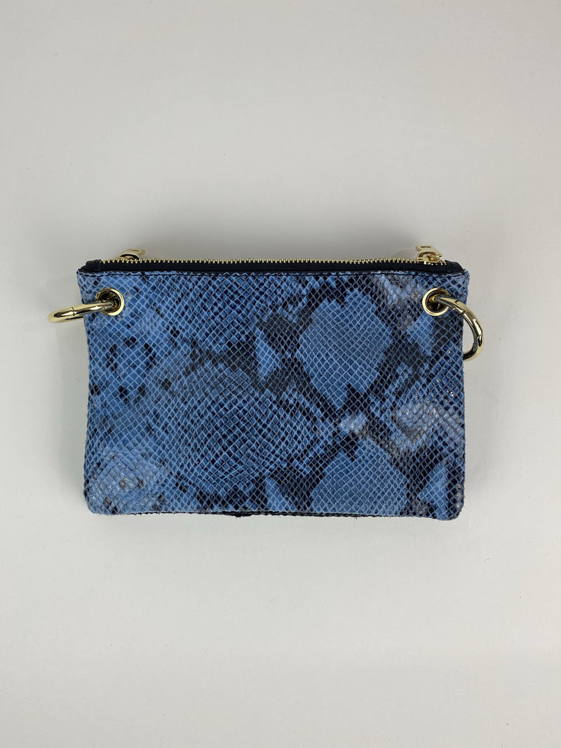 Medium Blue and Black Crossbody Handbag