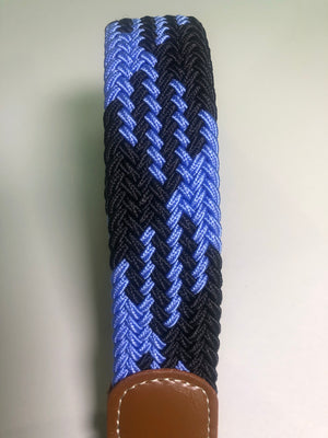 Woven Belt - Bright Blue & Black