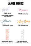 OVERSIZE FUNKY FONTS | Flat Panel Cards - [product_type] - Queen & Grace