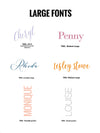 #4 Large Fonts | Notepad + Panel + Folded Notecards - [product_type] - Queen & Grace