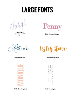 #3 Large Fonts | Panel +/or Folded Notecards - [product_type] - Queen & Grace