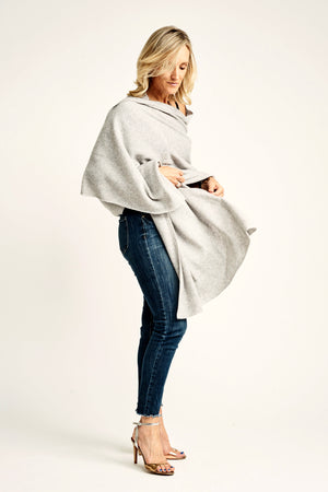 Light Grey Lightweight Wrap - Cashmere - Queen & Grace