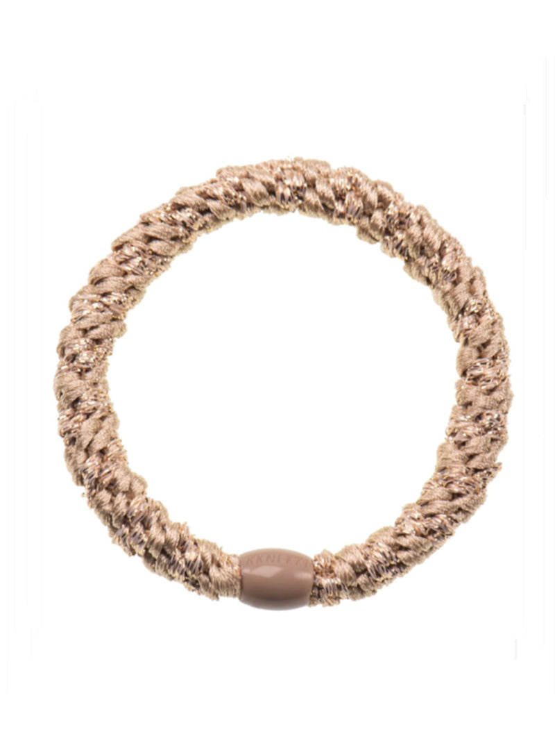 Hair Ties | Light Beige Glitter