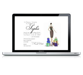 Save the Date and Illustrated e-Vite - Save the Date and e-Vite - Queen & Grace
