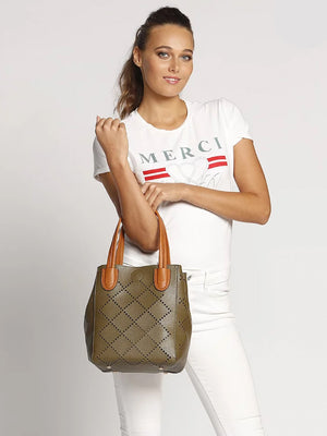 Baby Bermuda | Military Green - Handbags - Queen & Grace