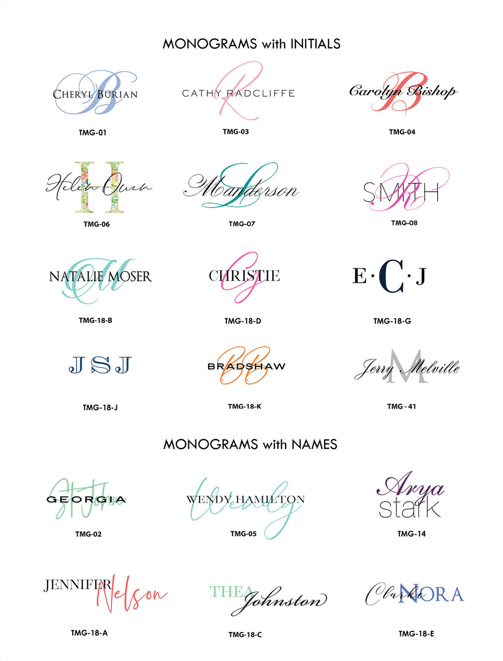 #1 Monograms | Folded + Panel Cards - [product_type] - Queen & Grace