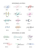 #1 Monograms | Folded + Panel Cards