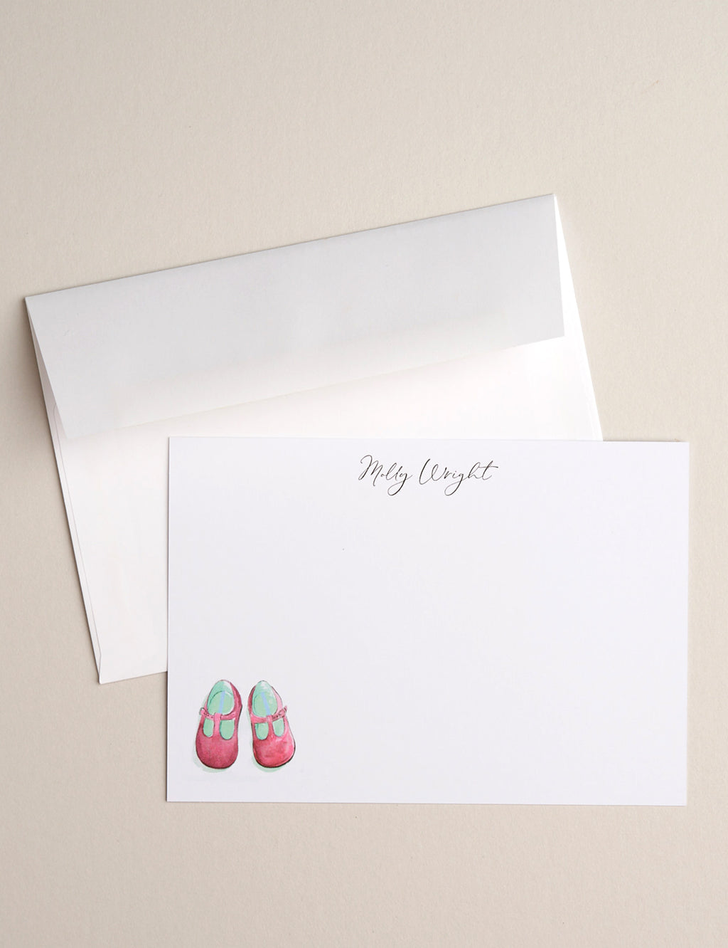 PINK BABY SHOES | Flat Panel Cards
