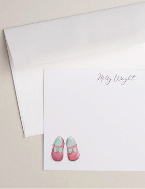 PINK BABY SHOES | Flat Panel Cards - [product_type] - Queen & Grace