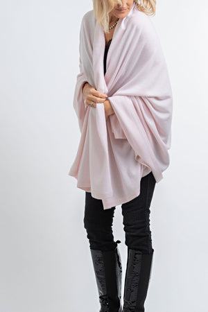 Cashmere Blanket Wrap Pale Pink 30/70