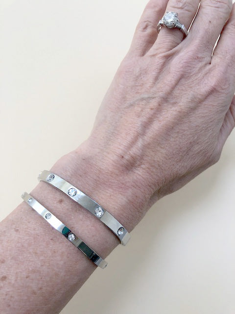 Silver Love Bracelets - Jewelry - Queen & Grace