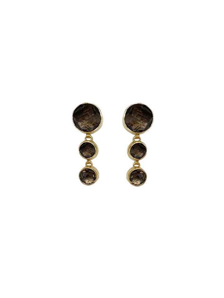 Earring Smoky Quartz