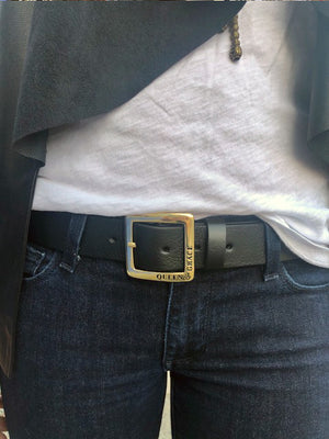 Ladies Belt | Solid Brass Square Buckle