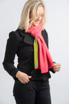 Two Tone Scarf | Pink + Lime Green