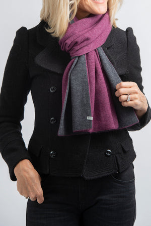 Two Tone Scarf | Amethyst + Charcoal