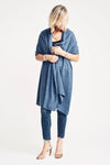 Denim Blue Lightweight Wrap - Cashmere - Queen & Grace