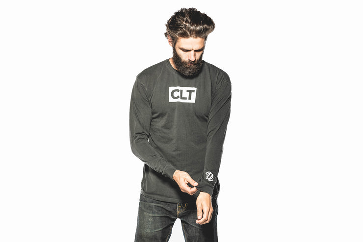 704 Shop CLT Box Longsleeve Tee - Shadow (Unisex)