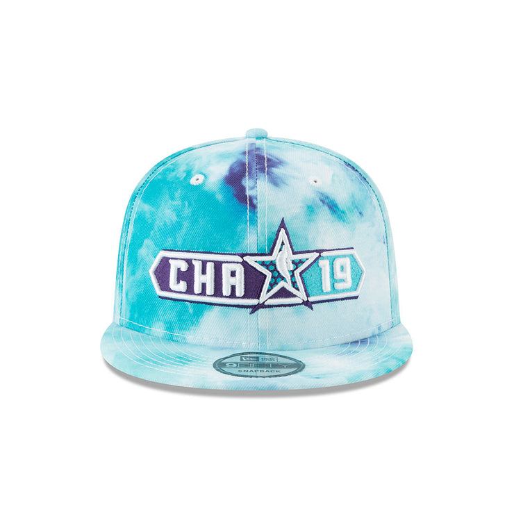 New Era Official 2019 NBA All-Star Game CHA Tie Dye 950 Snapback - White, Purple & Teal