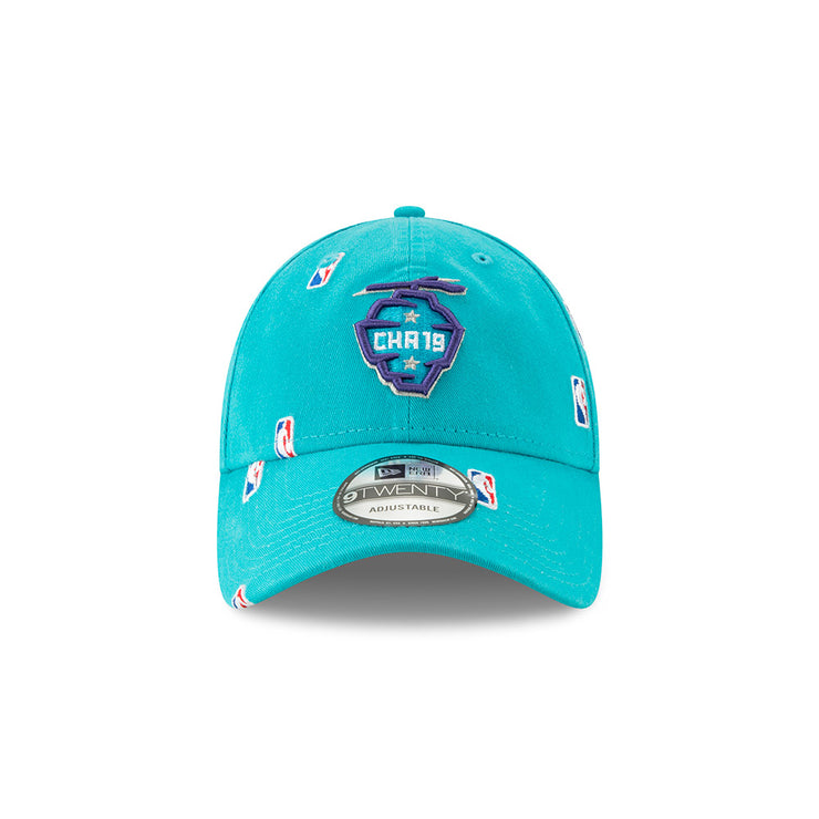 New Era Official 2019 NBA All-Star Game Logo All Over Hive 920 Dad Hat - Teal