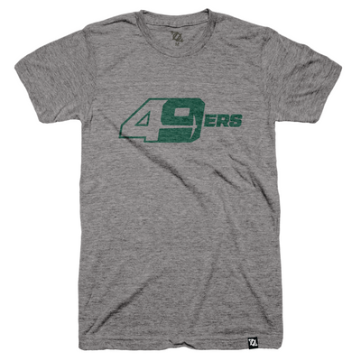 704 Shop x Charlotte 49ers - 49ers Tee - Gray/Green (Unisex)