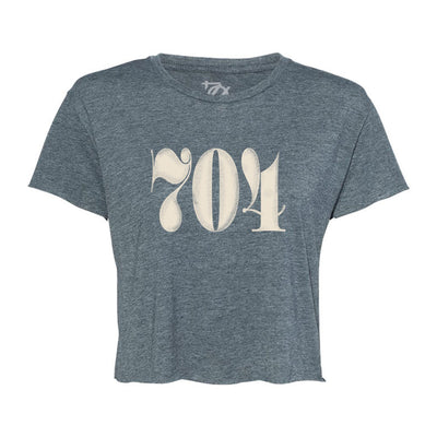 704 Shop Classic 704 Crop Tee - Heather Blue (Women's)