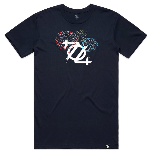 704 Shop Firework Logo Tee - Navy (Unisex) *Limited Edition*