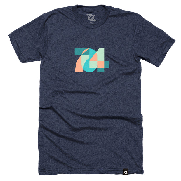 704 Shop 704 Geo Pastel/Midnight Tee (Unisex)