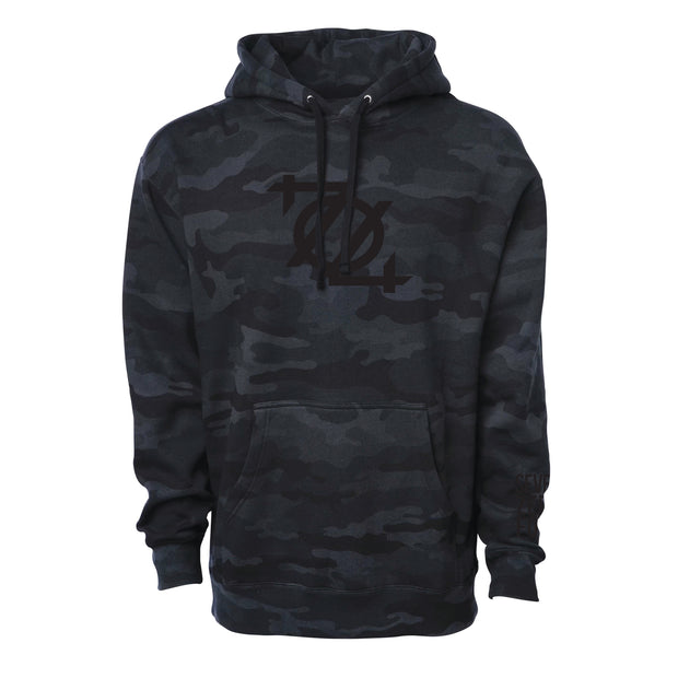 704 Shop Black Camo Logo Hoodie (Unisex) (Black Friday Limited Edition)