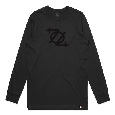 704 Shop Logo Long Sleeve Tee - Blackout (Unisex) (Black Friday Limited Edition)