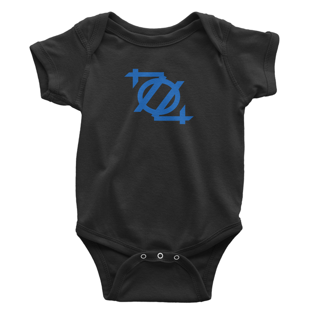 704 Shop Logo Onesie - Black/Blue
