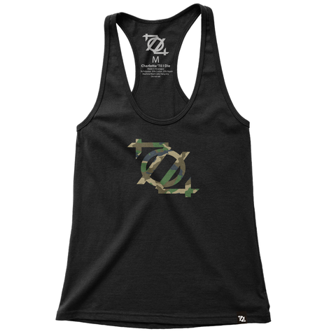 704 Shop Camo Logo Racerback - Black (Women's) *LIMITED EDITION*