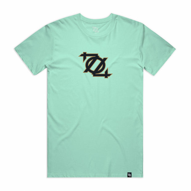 704 Shop 704 Logo Tee - Mint/Black/Gold (Unisex)