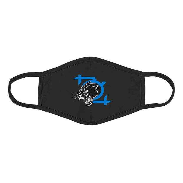 704 Shop 704 Panther Logo Face Mask - Black