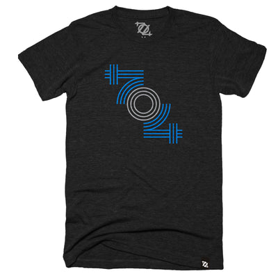 704 Shop 704 Retro Tee - Blue/Gray (Unisex)