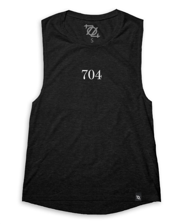 704 Shop Complicated Tank- Charcoal - Women's