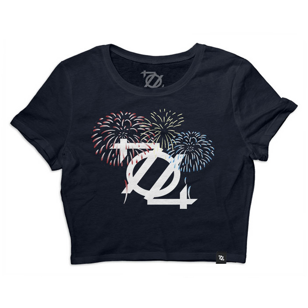 704 Shop Firework Logo Crop Top - Navy (Women's) *Limited Edition*