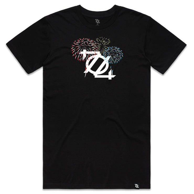 704 Shop Firework Logo Tee - Black (Unisex) *Limited Edition*