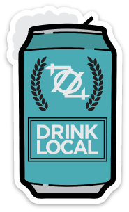 704 Shop Sticker - Drink Local Beer