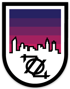 704 Shop Sticker - Charlotte Night Badge